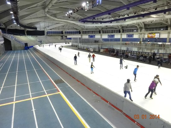 Olympic Oval: Running track and 400 M ice track