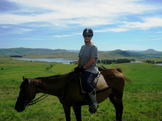 Sani Valley Lodge and Hotel: A horse ride enables you to enjoy stunning vistas