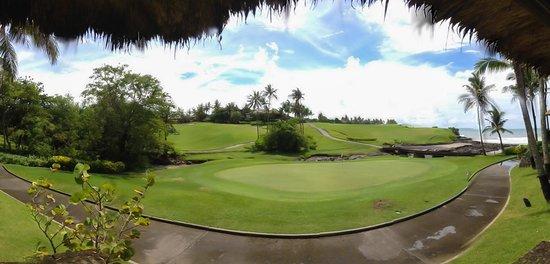 Pan Pacific Nirwana Bali Resort : View from villa porch of 12th green