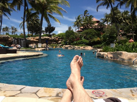Pan Pacific Nirwana Bali Resort : Relaxing by one of the pools