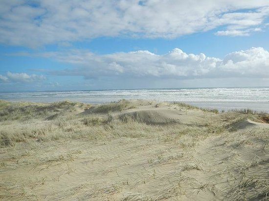Hukatere Lodge: Blick zum 90 miles beach