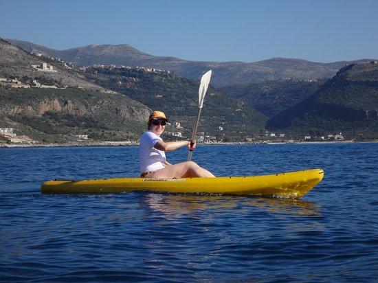 Elixirion: kayak dans la baie