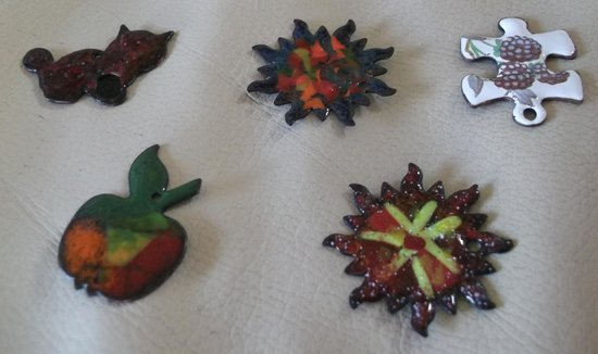 This Art Of Mine: Enamelled pendant / bracelet charms