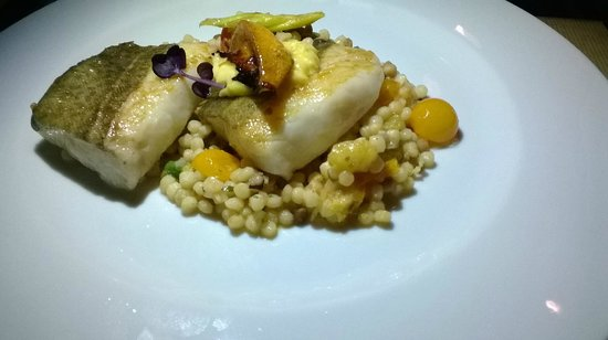 Naia: Cod confit with fregula 16.50 €: good