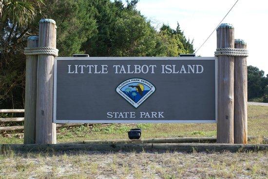 Little Talbot Island State Park : Eingangsschild