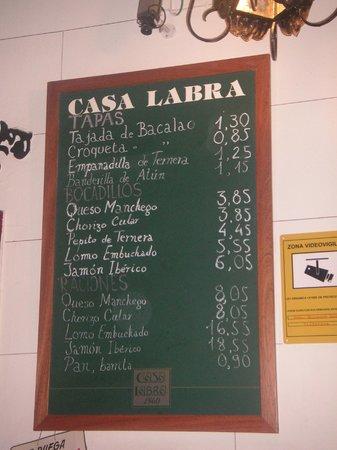 Lista de precios picture of casa labra madrid tripadvisor - Casa lista madrid ...