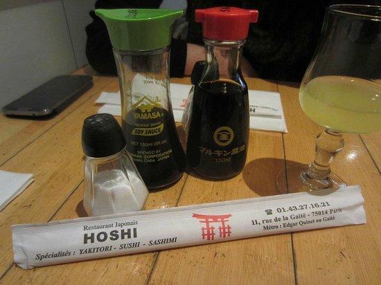 Hoshi: élements de table