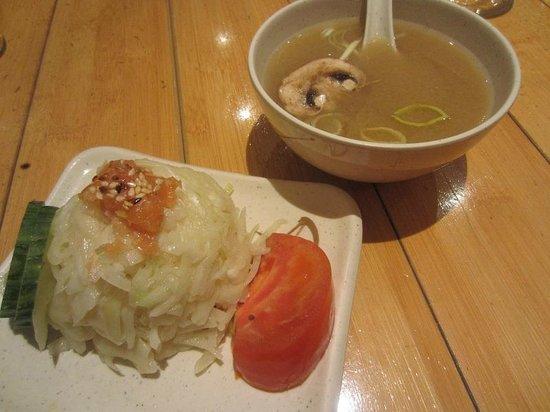 Hoshi: soupe et salade
