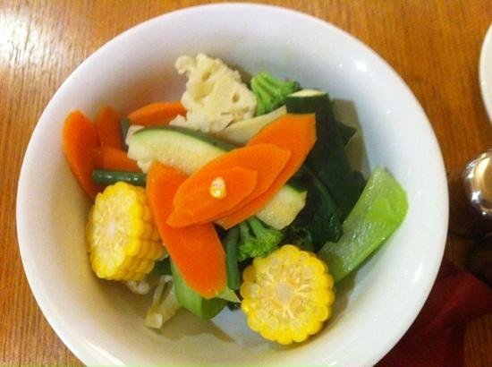 Scoozi Cafe Bar : Steamed Vegetables