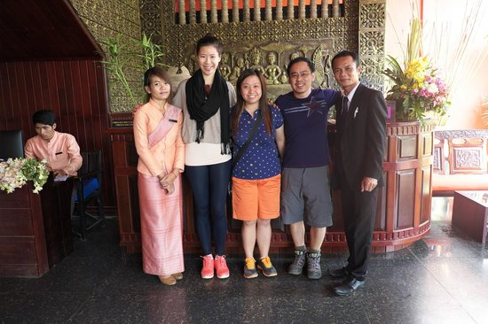 Group picture with Mr Richard, the manager of Golden Butterfly Villa