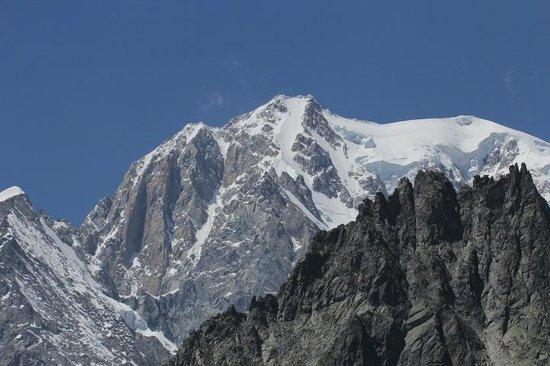 Giardino Alpino Saussurea: Il Monte Bianco