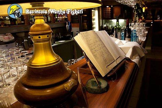 Ravintola Wanha Fiskari: Näkymä tiskille