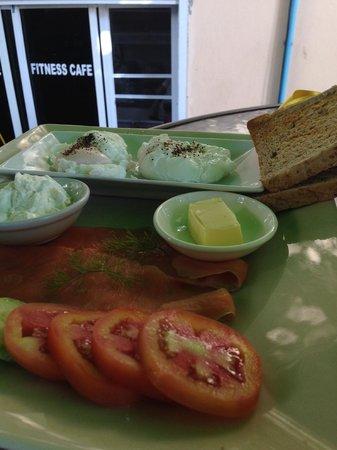 Fitness Cafe: Salmon set