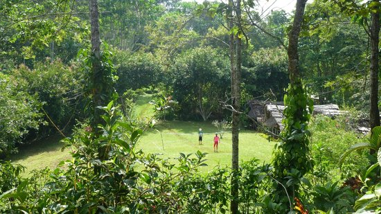 Amani Forest Camp (Emau Hill): badminton on the mountain (Emau Hill, Amani nature reserve)
