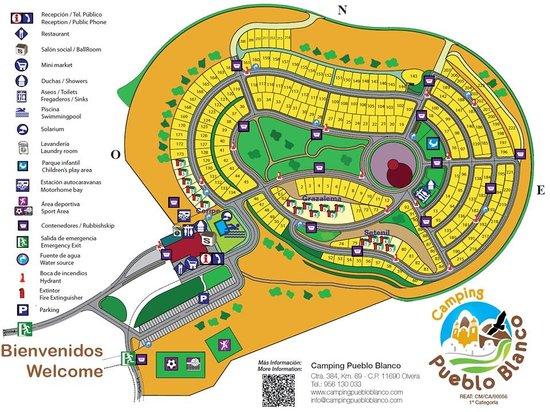 Mapa De Las Instalaciones Picture Of Camping Pueblo Blanco