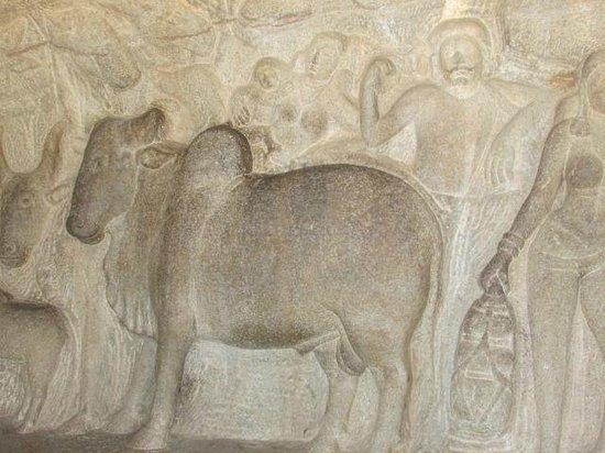Krishna Mandapam: cow and gokul people