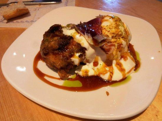 Restaurante Gran Sol: Jaizkibel: champiñón relleno de mousse de queso con jamón ibérico y ali oli