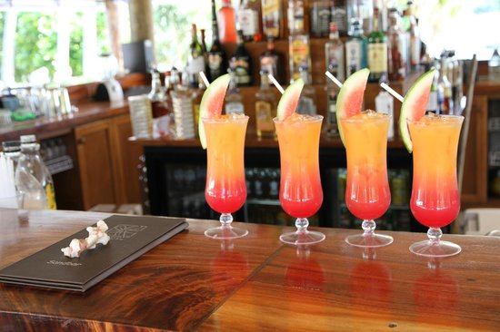 Paradise Cove Resort: Nice welcome cocktails