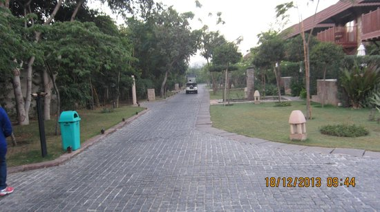 Ananta Spa & Resorts : View of the Resort Grounds with Golf Cart