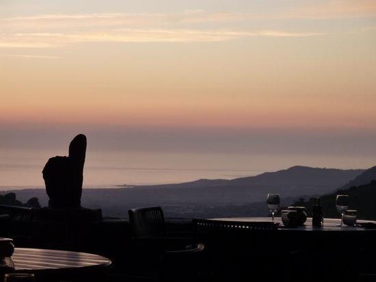 A Flatta: Vue du soir vers la mer