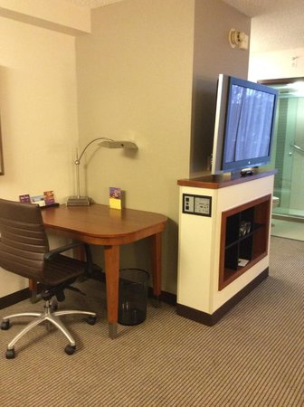Hyatt Place Orlando/Convention Center: Desk & TV