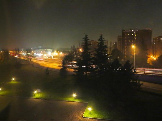 Night view from Rm 308, Rege Hotel, Milan