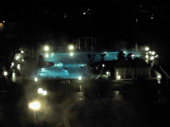 Hotel Harrys' Garden: vista piscina sera