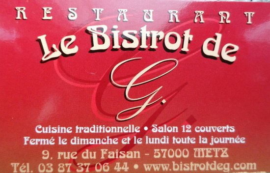Le Bistrot de G. : Logo