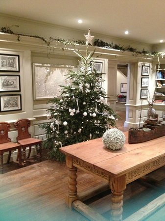The Blakeney Hotel Reception Area Christmas Decorations