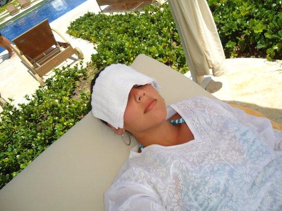 Iberostar Grand Hotel Bavaro: toalinha congelnada para refrescar!