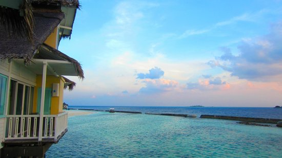 Ellaidhoo Maldives by Cinnamon: view to our left from room 407