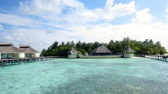 Ellaidhoo Maldives by Cinnamon: dining room at the end of the water bungalow walkway
