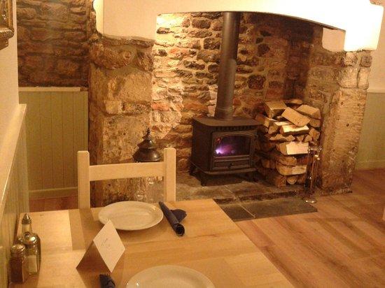 The Greek Taverna: Fireplace