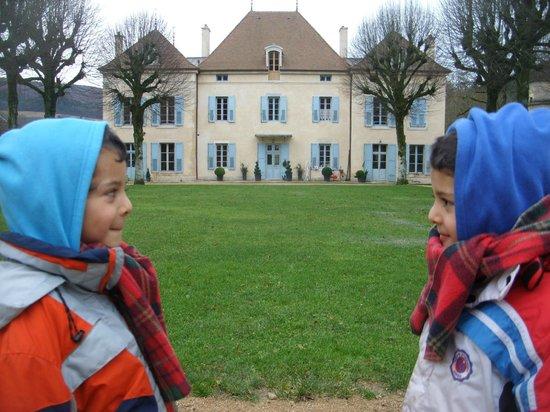 Chateau de Barbirey: Grand gazon dans la cour interne : idéal pour les petits