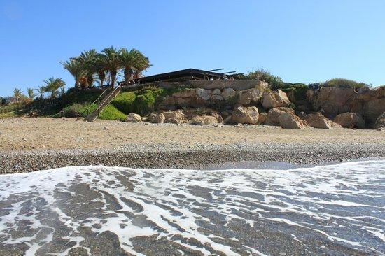 Lara Beach: restaurant from sea