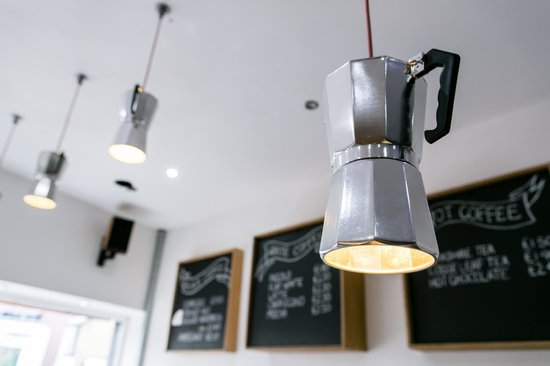 Opposite cafe custom made lights