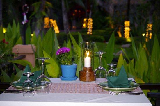 Bo Phut Resort & Spa : Romantic Dinner setting at Sala Thai