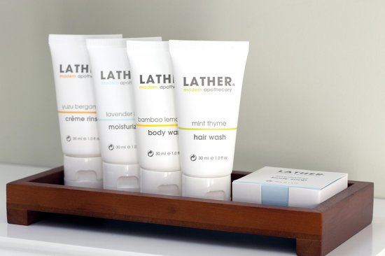 The Barlow: We are pleased to offer the Aromatherapy Collection of bath amenities from Lather