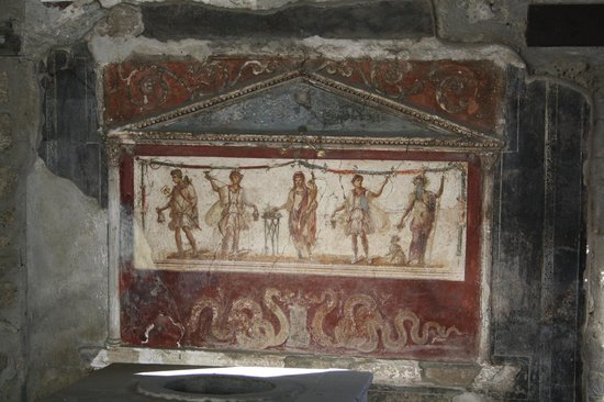 Pompeii - Parco Archeologico: affresco del thermopolium