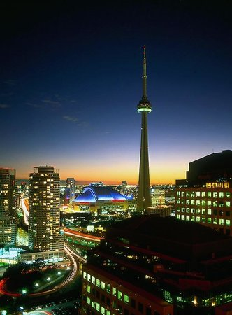 The Westin Harbour Castle, Toronto: My view from the room, that's the CN tower and Rogers center.
