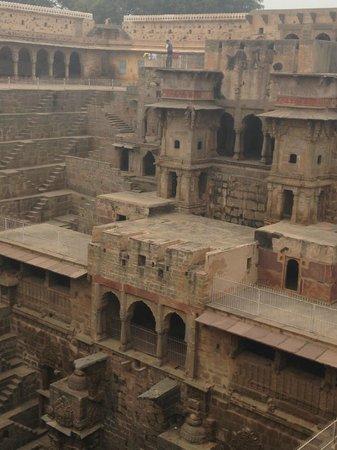 Chand Baori: The Temple Side
