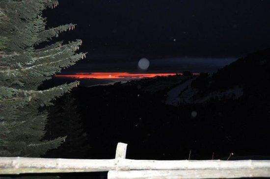 Bischofhutten: Sonnenaufgang von der Terrasse