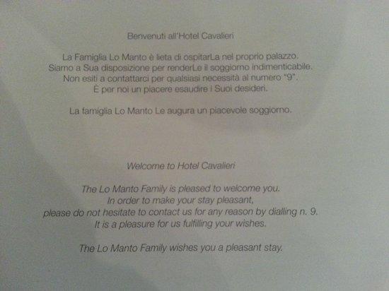 Hotel Cavalieri: Rules 1