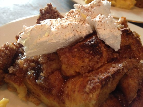 The Z: Pumpkin spice egg nog french toast topped with cinnamon whipped cream!