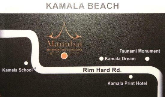 Manubai Restaurant Lounge-bar: Map Manubai