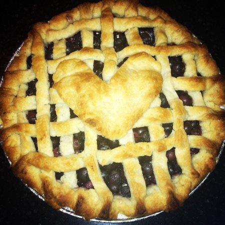 The Z: Homemade blueberry pie! LOVE