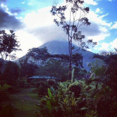 Brisas Arenal Hotel : Vista al volcán desde la cabina