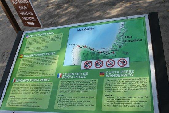 Isla Catalina : Sendero Punta Pérez
