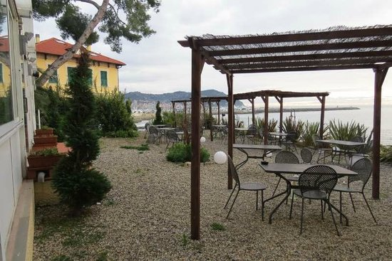 Hotel Corallo: View of terrace outside restaurant