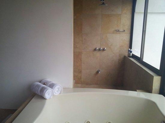 Hotel Belmar: Le jacuzzi avec accès direct à la douche